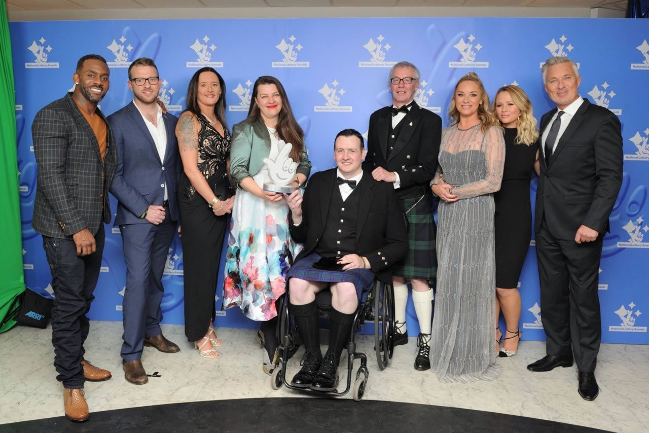 Bravehound Wins 'Best Charity' at National Lottery Awards.