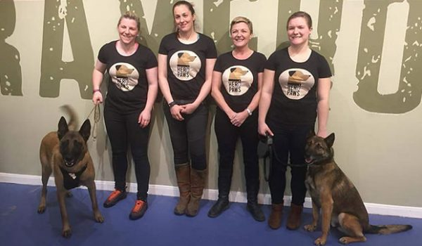 Hero paws - four girls and two dogs