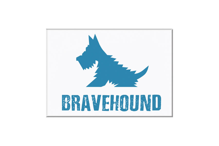 bravehound fridge magnet