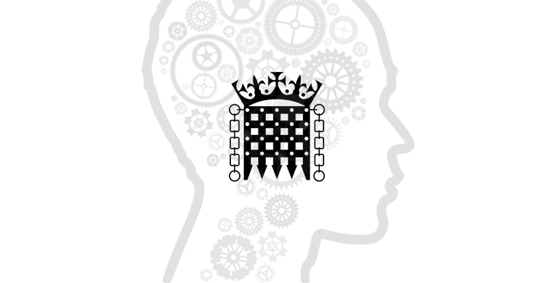 UK PARLIAMENT logo and head with cogs