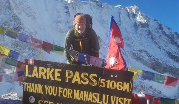 man in Manaslu Himalayan trek